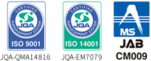 ISO9001・ISO14001 認証取得